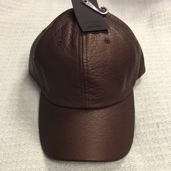 5586274030df26 david & young Accessories | Nwt Faux Leather Cap Brown With ...